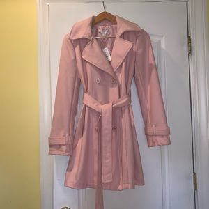 New York and Company Pink Peacoat